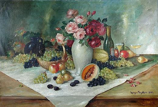 Holger Fischer (Danish, 19th Century) Still Life
