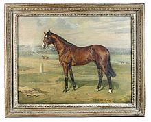 """§ Nina Colmore (British, 1889-1973) - Our Babu, a bay racehorse, by """"My Babu"""" out of """"Glen Line"""", the property of David Robinson"""