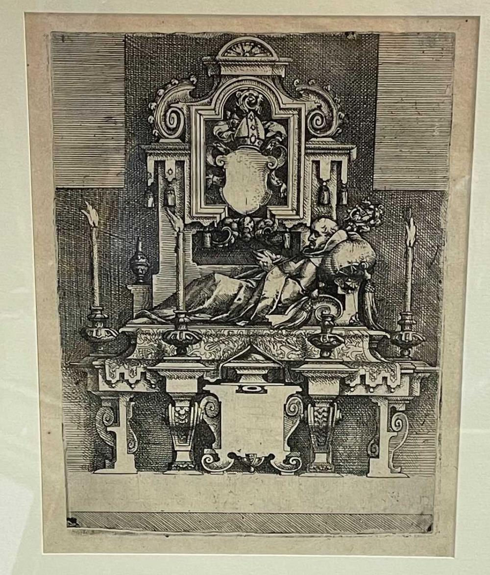 Wenzel Dietrich the Elder (1550-1590), a page taken from Architectura, etching on paper, 26.5 x 20cm (pl.)