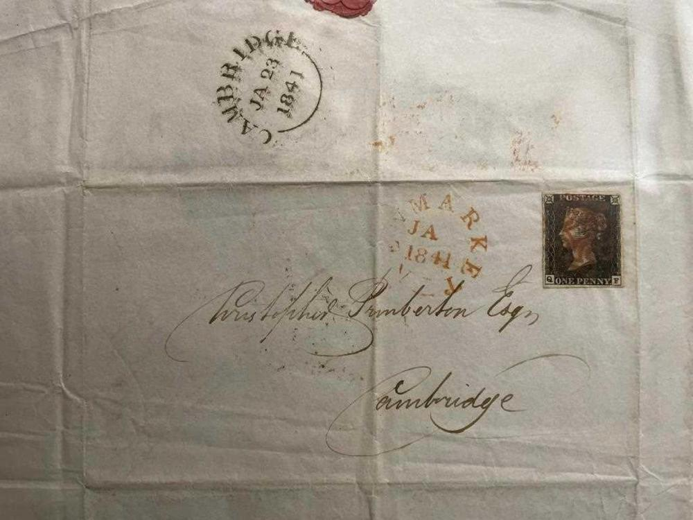 A collection of Cambridge solicitors' correspondence, 1795-1857, mainly Christopher Pemberton and Pemberton & Co, three with 1d blacks on letter sheets, others with 1d reds, about 50 items plus later envelopes