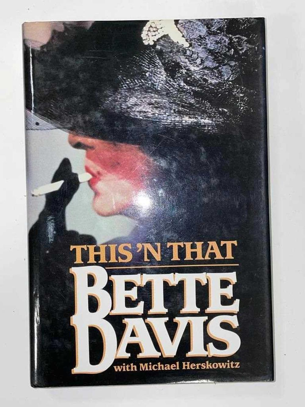 DAVIS (Bette) This 'N That, 1987, signed by the author, dust jacket; HAMNETT (Nina) Is She a Lady, 1st edition 1955, light spotting, dust jacket; Laughing Torso, 1932, 8vo, signed by the author dated 1955, cloth; NORWICH (J. Julius) and Quentin...