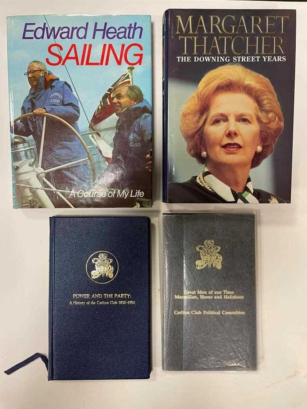 THATCHER (Margaret) The Downing Street Years, 1st edition 1993, signed by Margaret and Denis Thatcher, dust jacket; Great Men of our Time - Macmillan, Home and Hailsham, Carlton Club 1987, signed by Home, Hailsham and Willie Whitelaw (?), no....