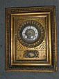 A Continental wall clock, 19th century,