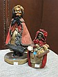 Two late 19th century vendor dolls,