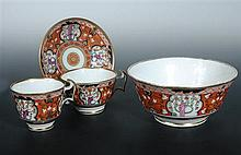 A Swansea trio and matching bowl