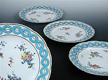 A set of four Sevres plates, date letters for 1776,1777 and two for1789,
