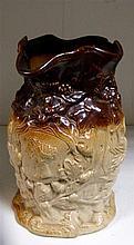 A 'Stephen Green, Lambeth' stoneware jug commemorative of Queen Victoria's wedding in 1840,