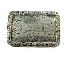 A George IV silver vinaigrette, mark of Nathaniel Mills,