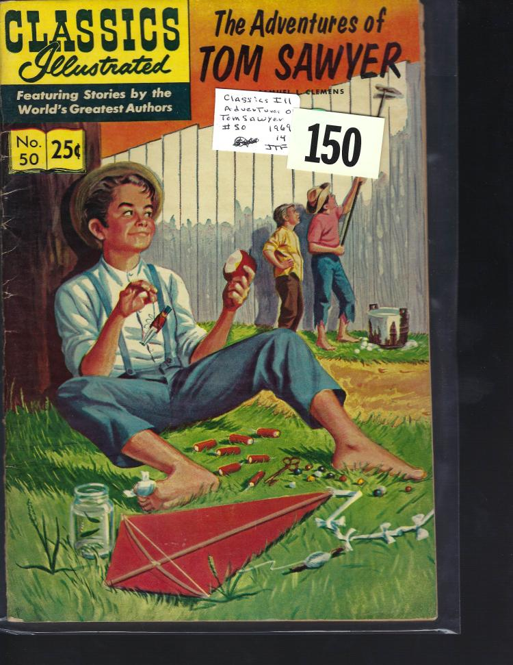 #50 Classic Illustrated The Adventures of Tom Sawyer