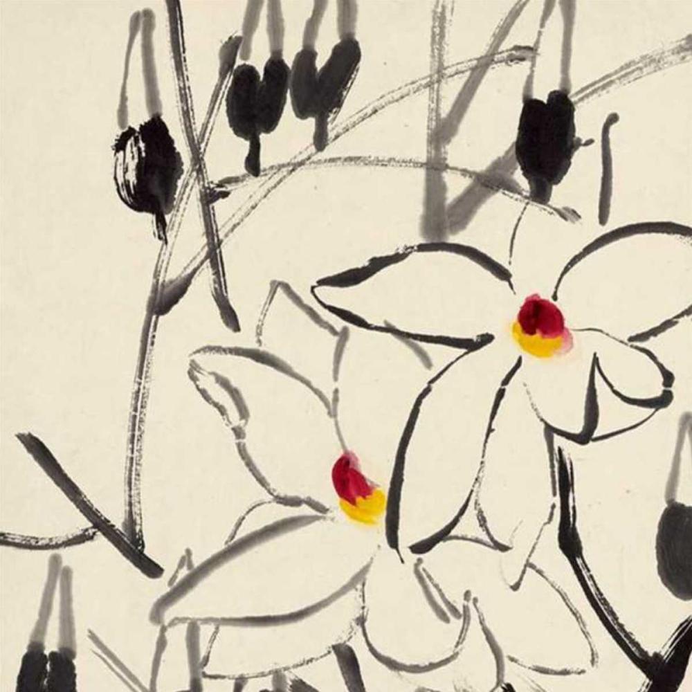 Lotus Flower Cloth Painting