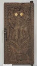 Antique Hand-Carved Solid Wood Window Shutter, Dayak Style