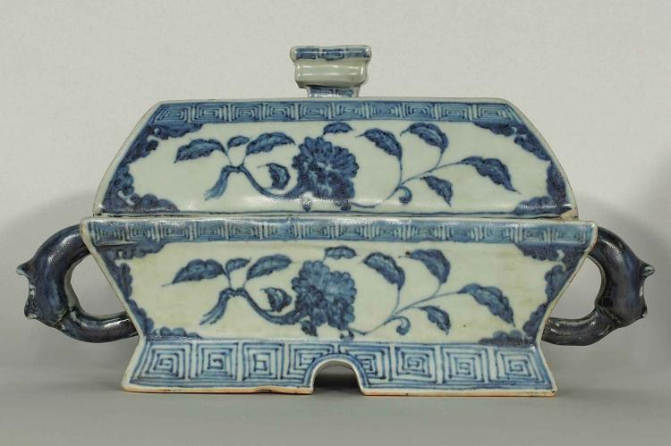 Fang Yi'-Form Box with Flower, Yongle, Ming Dynasty
