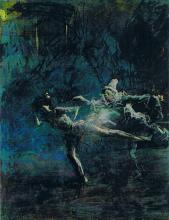 Jean Louis Forain, Pierrot et danseuse, c. 1920