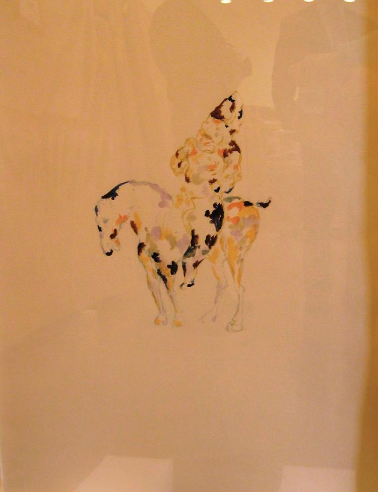 Anne Chu, Study for Lady on Horseback, 1998