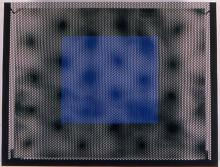 Evan Holloway, Light Blue Over Black, 2001