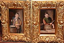 A fine pair of 19th century English oil on board depicting Th eEnglish Fish