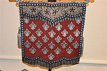 A rare English 19th century rosewood pole screen with beaded tapestry. Heig