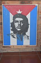 Oil on canvas depicting Che Guevara. Height 70cm, Width 59cm
