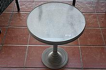 Marble top side table. Height 59cm, Width 48cm