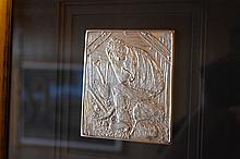 Kevin Charles 'Pro' Hart. A rare Australian Sterling silver ingot titled