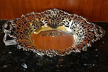 A fine Sterling Silver pierced bowl.