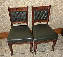 A fine and rare set of six Australian colonial cedar library chairs having