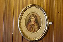 A. Delafontaine. An original 19th century watercoulour depicting the young