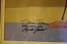 Chuck Jones. An original cell depicting the Coyote from the episode 'Charri