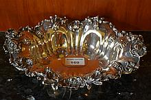 A good Sterling silver bowl having embossed floral decoration.