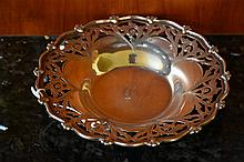 A Sterling silver pierced bowl