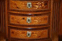 An outstanding pair of French 19th century occasional commodes having fine