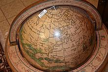 A Vintage Globe of the world opening to reveal a drinks bar. Height 84cm, W