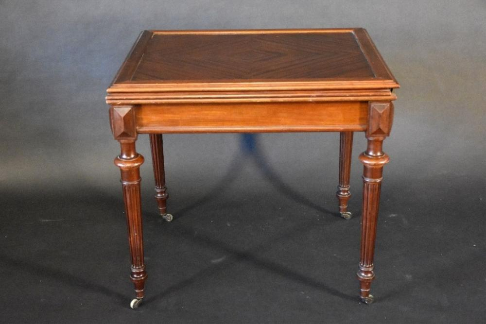 A rare French 19th century rosewood fold out gamin…