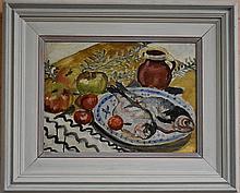 ISABEL HUNTER TWEDDLE 1875- 1945 STILL LIFE oil on canvas on board 27
