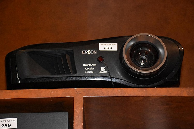 An Epson home projector, model number EMPTW2000.