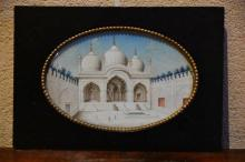 A finest detailed 19th century miniature on ivory