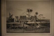 Six antique prints of Egypt. Height 28cm, Width 36