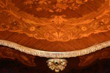 A fine French 19th century serpentine shaped centr