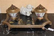A good French 19th century chinoiserie lacquered d