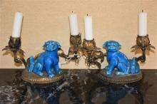 A good pair of Chinese 19th century ormolu and por