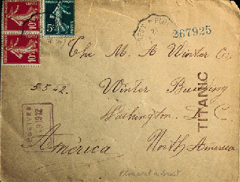 An Envelope Intended For R.M.S. TITANIC