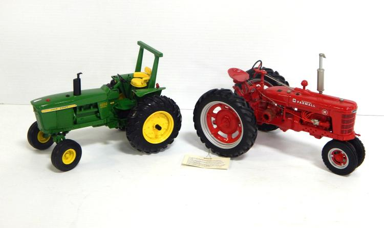 (2) 1:16 Scale Tractors