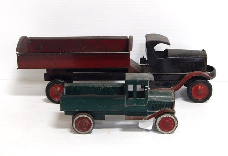 (2) Early Pressed Steel Trucks