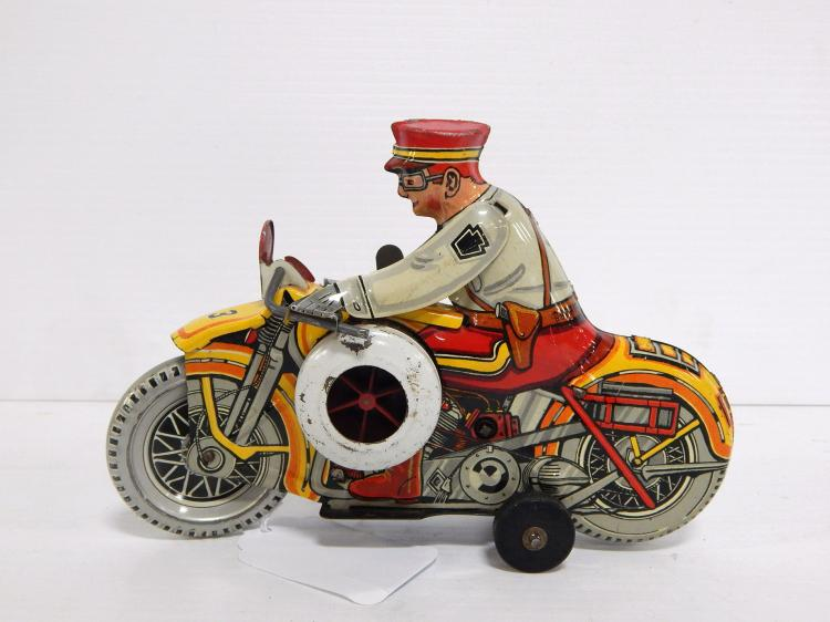 Marx Police Motorcycle with Siren