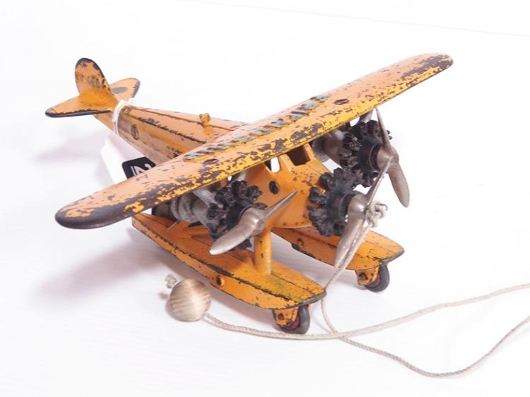 Hubley Sea Plane Pull Toy