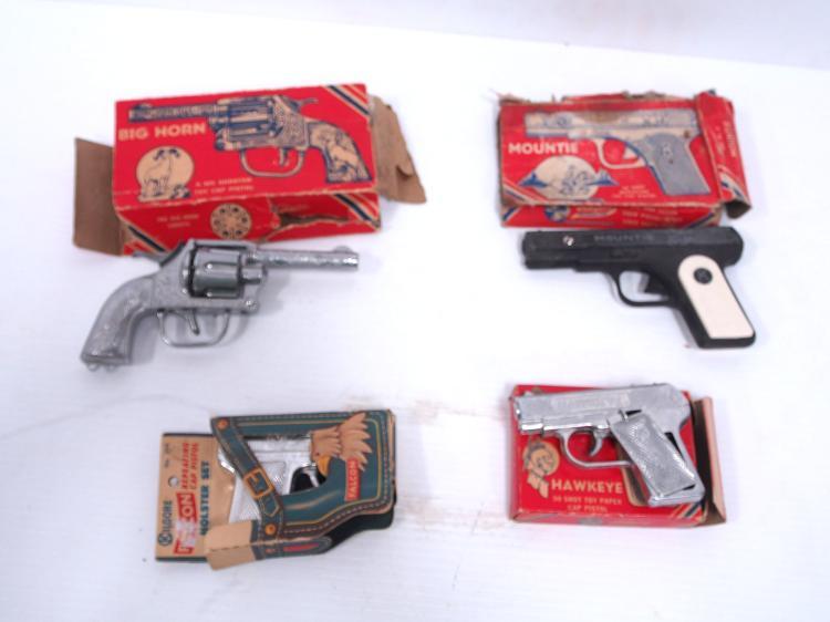 (4) Kilgore Cap Pistols