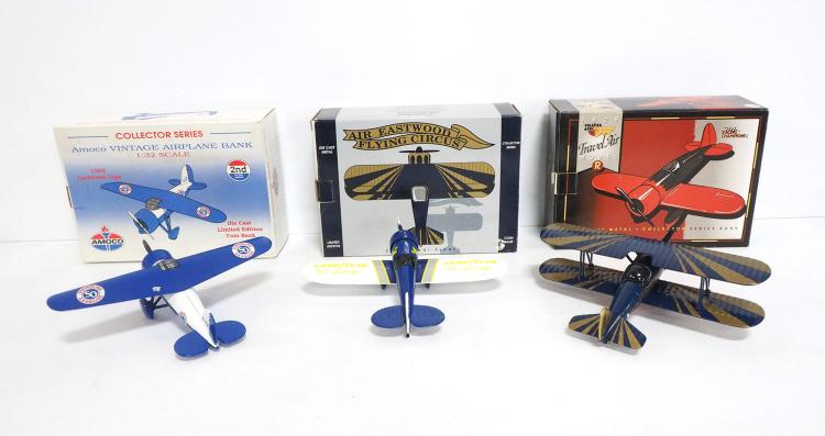 (3) Die-cast Airplanes