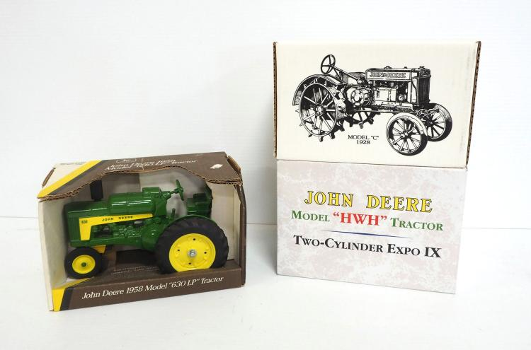 (3) 1:16 John Deere Tractors