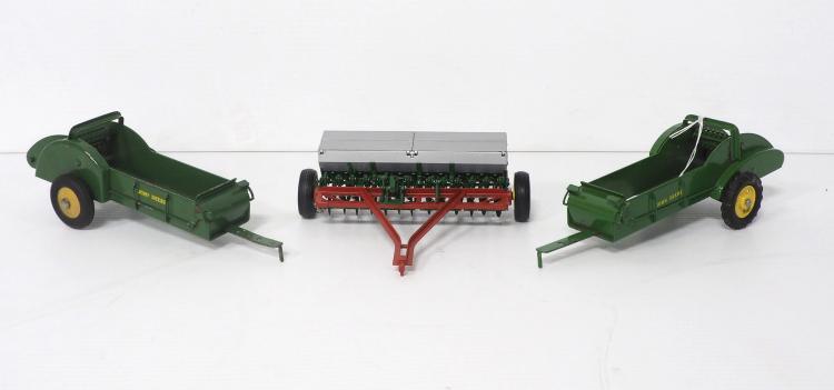 (3) 1:16 Pressed Steel Toys