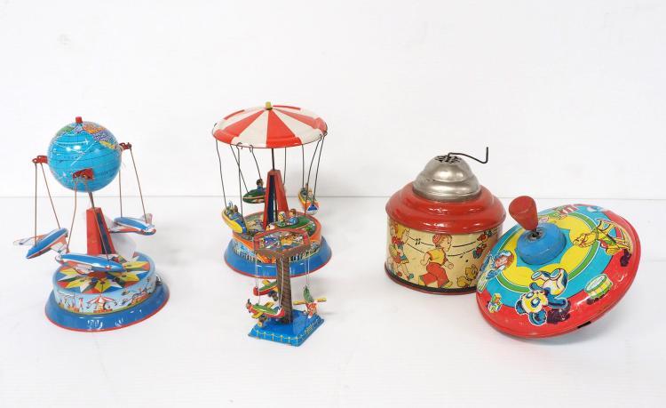 (5) Tin Litho Toys